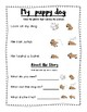 Leveled Reading Comprehension - Puppy