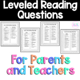 Reading Comprehension Questions (Fountas and Pinnell Correlated by Level)