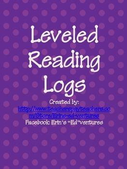 Leveled Reading Logs FREEBIE