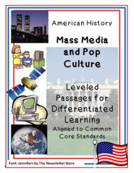 Leveled Reading Passages for Differentiated Learning: Mass Media and Pop Culture