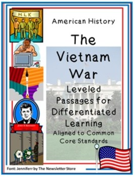 Leveled Reading Passages for Differentiated Learning: The Vietnam War
