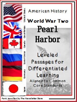 Leveled Reading Passages for Differentiated Learning: WWII  Pearl Harbor