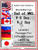 Leveled Reading Passages for Differentiated Learning: WWII  VE VJ Day
