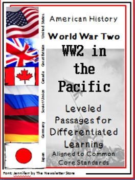 Leveled Reading Passages for Differentiated Learning: WWII  War in the Pacific