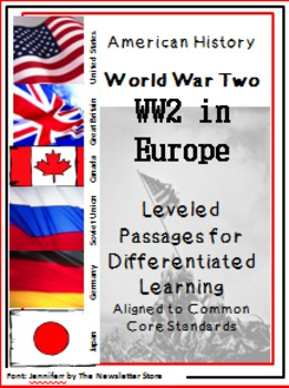Leveled Reading Passages for Differentiated Learning: WWII in Europe