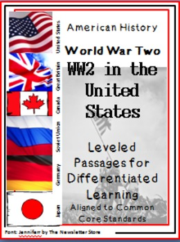 Leveled Reading Passages for Differentiated Learning: WWII in the US