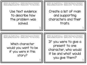 Leveled Reading Response Cards *Differentiated! Grades 2-3*