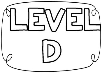 Leveled Reading Signs with Characters