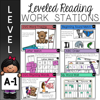 Guided Reading Leveled Work Stations - Level A (DRA 1)
