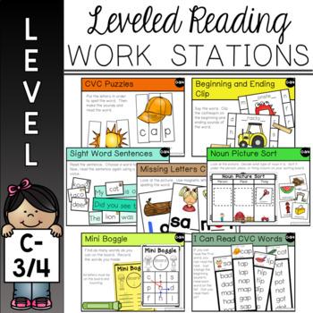 Guided Reading Leveled Work Stations - Level C (DRA 3/4)