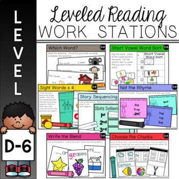 Guided Reading Work Stations for Level D