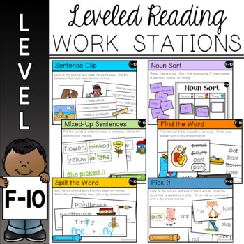 Guided Reading Leveled Work Stations - Level F (DRA 10)