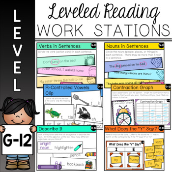 Guided Reading Leveled Work Stations - Level G (DRA 12)