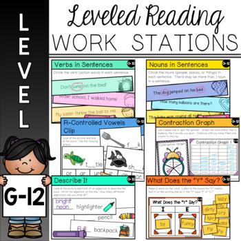 Guided Reading Leveled Work Stations - Level G (DRA 12)