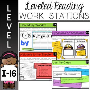 Guided Reading Leveled Work Stations - Level I (DRA 16)
