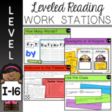 Guided Reading Leveled Work Stations - Level I (DRA 16)