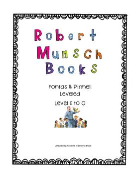 Leveled Robert Munsch Books
