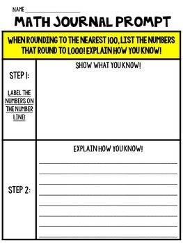 Leveled Rounding Writing Prompt