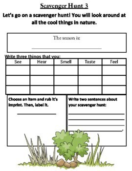 Leveled Scavenger Hunt for Special Education or Elementary