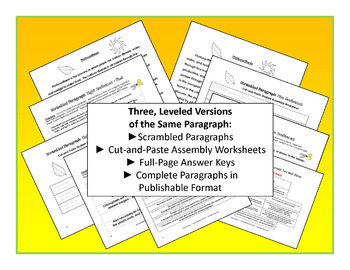 Leveled Scrambled Paragraph: Photosynthesis {One Paragraph, Three Versions}