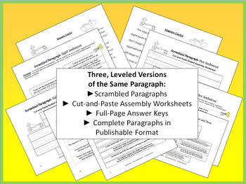 Leveled Scrambled Paragraph: Saguaro Cactus {One Paragraph, Three Versions}