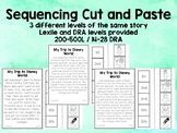 Leveled Sequencing Cut and Paste Sheets