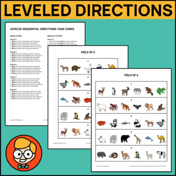 Leveled Sequential Directions Task Cards