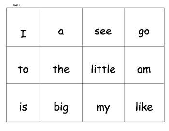 Leveled Sight Words: 1st grade Reading Street