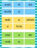 Leveled Spanish Complete Sentence Center - Calle de la Lectura