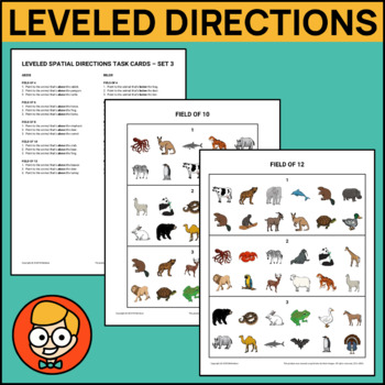 Leveled Spatial Directions Task Cards - Set 3