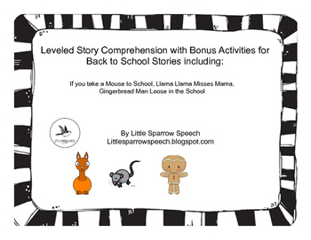 Leveled Story Comprehension for Back to School
