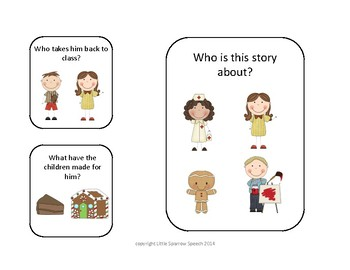 Leveled Story Comprehension for Gingerbread Man Loose in the School
