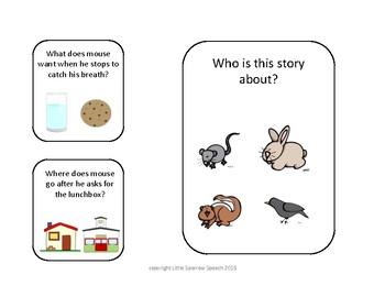 Leveled Story Comprehension for If You Take a Mouse to School