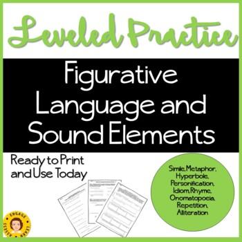 Leveled Student Practice - Figurative Language and Sound Elements