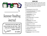 Leveled Summer Reading Journal--Books at a F&P Level I