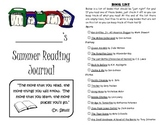 Leveled Summer Reading Journal--Books at a F&P Level T