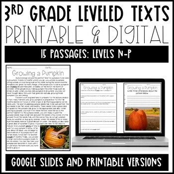 Leveled Text: 3rd Grade