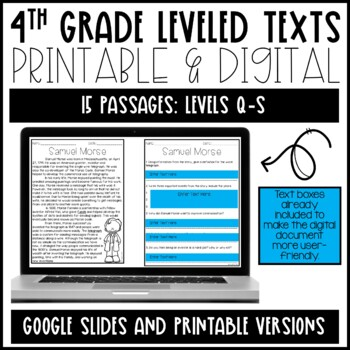 Leveled Text: 4th Grade