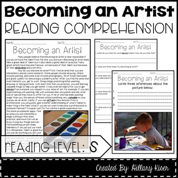 Leveled Text S: Becoming an Artist