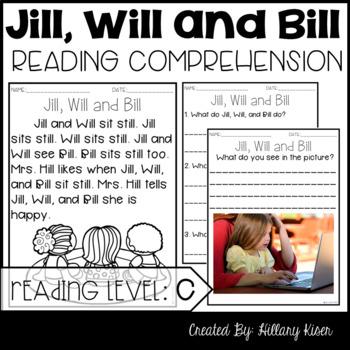 Leveled Text C: Jill, Will and Bill