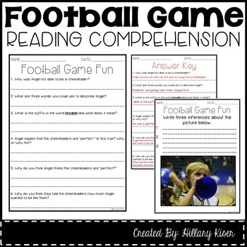 Leveled Text M: Football Game Fun