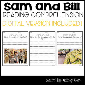 Leveled Text G: Sam and Bill