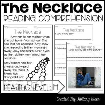 Leveled Text H: The Necklace