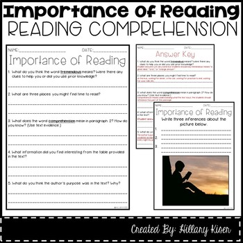 Leveled Text T: Importance of Reading