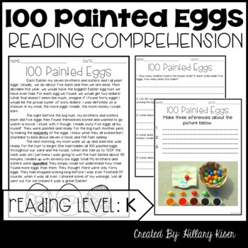 Leveled Text K: 100 Painted Eggs