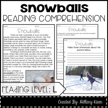 Leveled Text L: Snowballs