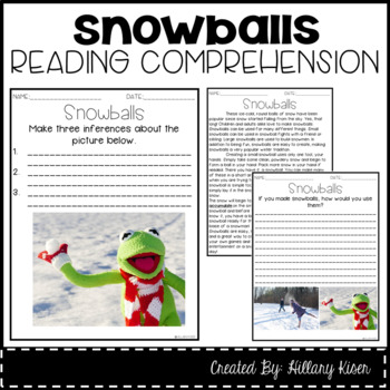 Leveled Text L: Snowballs