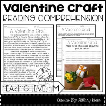 Leveled Text M: A Valentine Craft