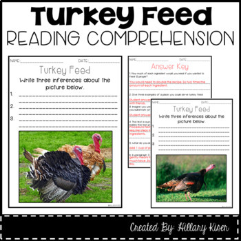 Leveled Text M: Turkey Feed