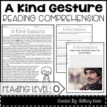 Leveled Text O: A Kind Gesture